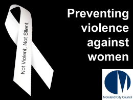 Preventing Violence Against Women, Moreland City …