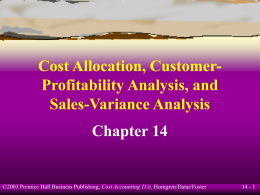 Cost Allocation, Customer-Profitability Analysis, and