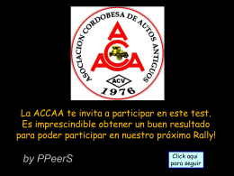 ACCAA Rally Test
