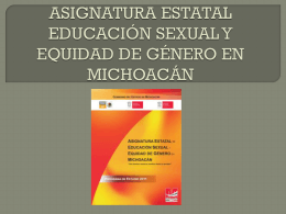 ASIGNATURA ESTATAL EDUCACION SEXUAL Y EQUIDAD …
