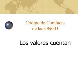 Nuestros objetivos - Coordinadora ONGD