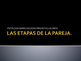 LAS ETAPAS DE LA PAREJA.