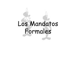 Los Mandatos Formales