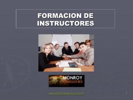CURSO FORMACION DE INSTRUCTORES