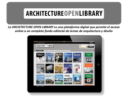 La Architecture Open Library es una plataforma digital que