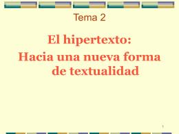 El hipertexto: definiciones - UCM