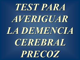 Test demencia precoz www.albelda.info