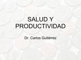 SALUD Y PRODUCTIVIDAD