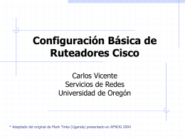 Cisco Router Configuration Basics Presented By Mark Tinka
