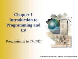 Programming in Visual Basic.NET