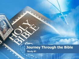 Journey Through the Bible - St. Mary Coptic Orthodox