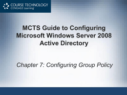 Windows Server 2008 - University of Central Missouri