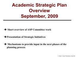 ACADEMIC STRATEGIC PLANNING