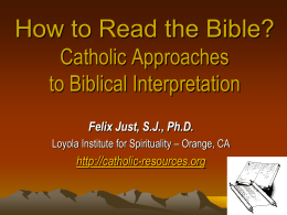 Should We Take the Bible Literally? Catholic Approaches to