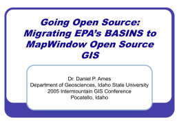 basins_mapwindow - MapWindow Open Source GIS