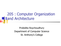 205 : Computer Organization and Architecture