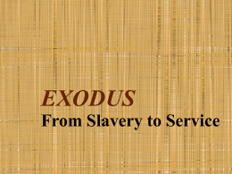EXODUS - St. John in the Wilderness Adult Education and