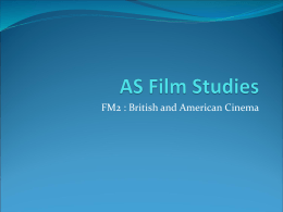 AS Film Studies - Andreasmedia's Weblog