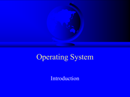 CS 502 Operating Systems