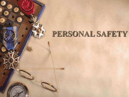 PERSONAL SAFETY - University of Baltimore