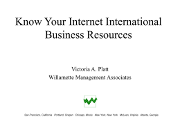 Know Your Internet International Business Resources
