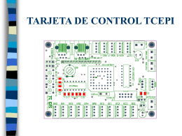 TARJETA DE CONTROL TCEPI