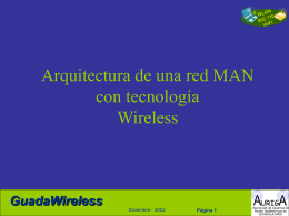 Arquitectura de una red Wireless