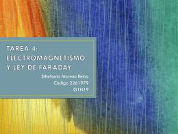 TAREA 4: ELECTROMAGNETISMO Y LEY DE FARADAY