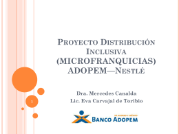 Proyecto Micro franquicias de Nestl&#233