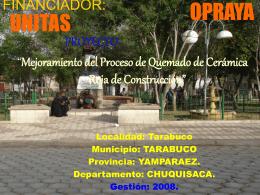 PROYECTO - Unitas - Bolivia. Bienvenido (a)