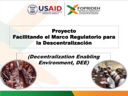 Diapositiva 1 - Observatorio Social de Descentralizacion