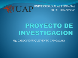 Diapositiva 1 - CARLOS ENRIQUE VENTO CANGALAYA