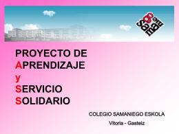 PROYECTO DE APRENDIZAJE y SERVICIO SOLIDARIO
