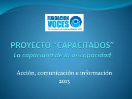 """PROYECTO """"CAPACITADOS"""""""