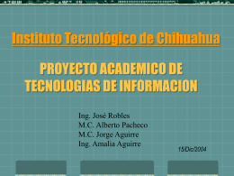 PROYECTO ACADEMICO DE TECNOLOGIAS DE …