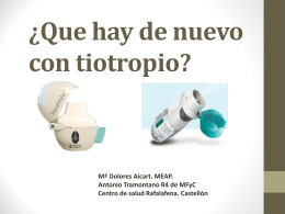 TIOTROPIO - Docencia Rafalafena | Articulos, sesiones y