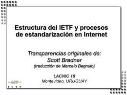 IETF Structure and Internet Standards Process