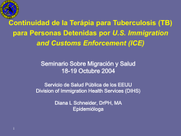 Post-Detention Continuity of TB Therapy for the Bureau