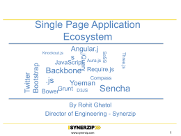 SPA Ecosystem (Single Page Application)