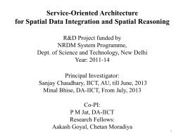 Service-Oriented Architecture for Spatial Data Integration