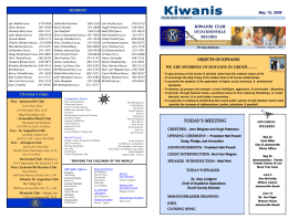 KIWANIS CLUB OF JACKSONVILLE BEACHES FLORIDA …