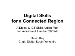 Digital Skills for a Connected Region