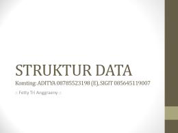 ALGORITMA DAN STRUKTUR DATA - E