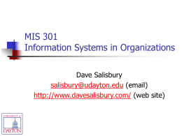 MIS 301 - Collaboration & Discovery
