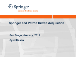 Springer's PDA Pilot