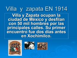 Villa y zapata EN 1914