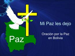 Mi Paz les dejo - Bienvenidos a la Parroquia La Santa Cruz