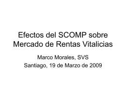 Efectos del SCOMP sobre Mercado de Rentas Vitalicias