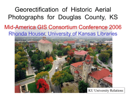 Georectification of Historic Aerial Photographs for