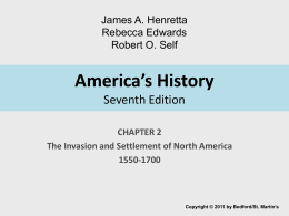 America's History Seventh Edition - Bedford